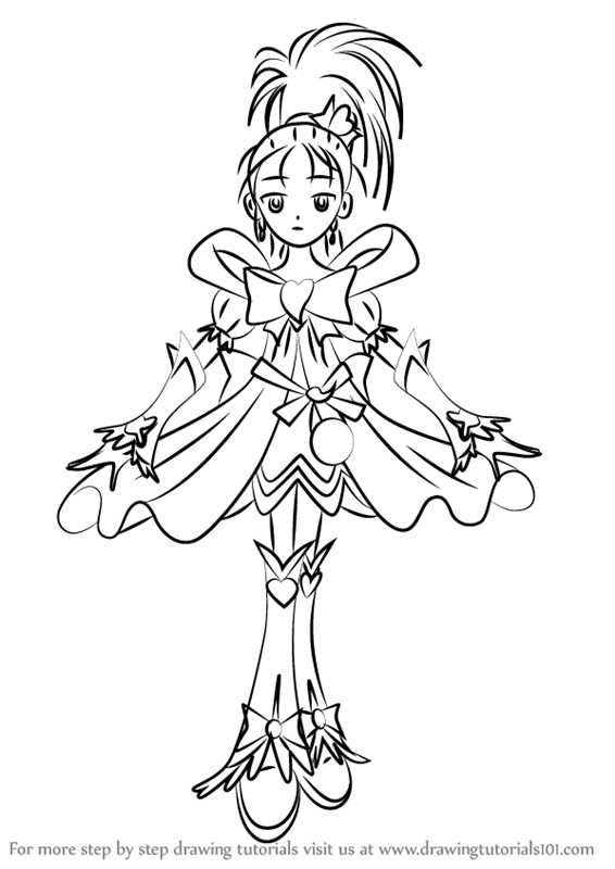 566x800 Learn How To Draw Cure Windy From Pretty Cure (Pretty Cure) Step