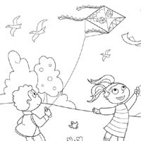200x200 Windy Day Coloring Pages Surfnetkids