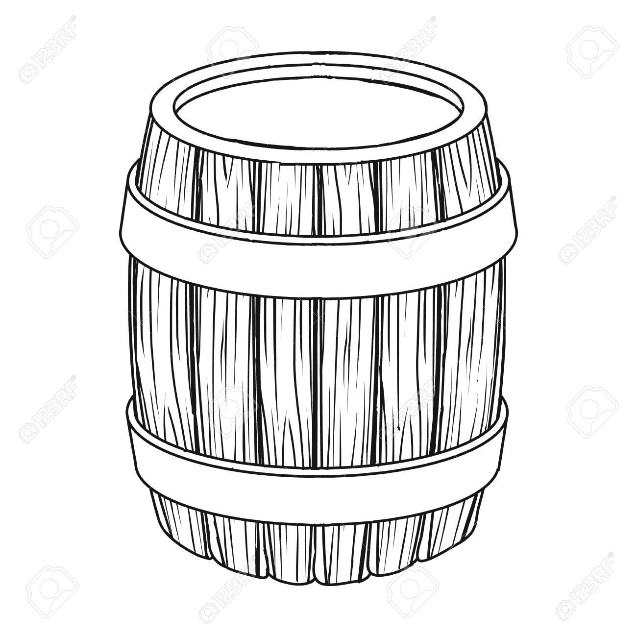 1300x1300 Oak Barrel Beer. A Barrel In Which Beer Is Brewed. Pub Single Icon
