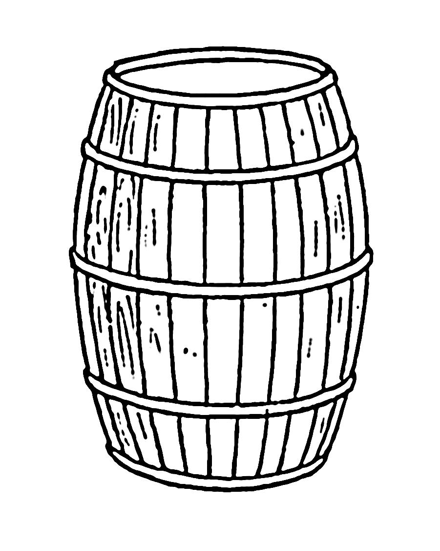 901x1126 Barrel Line Drawing Wine Barrel Drawing