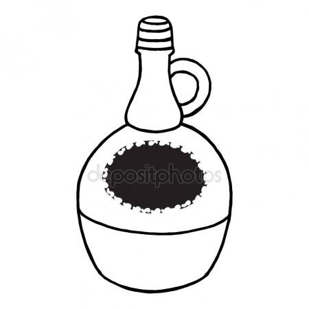 450x450 Hand Drawn Bottle Of Wine Stock Vector Iskokova
