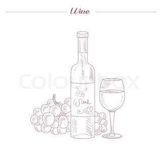 320x320 Vintage Wine Jug Hand Drawn Realistic Detailed Sketch In Beautiful