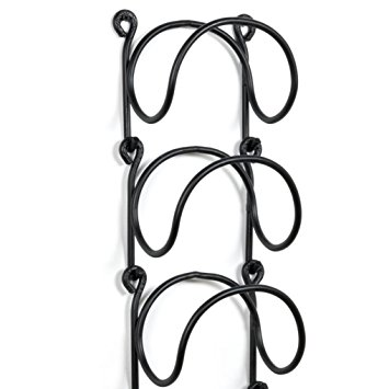 355x355 Wallniture Wrought Iron Curved Wall Mounted Wine