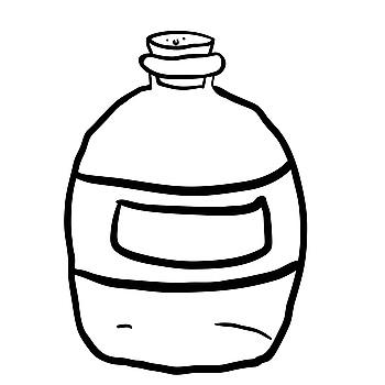 350x350 Black Wine Bottle With Blank White Label