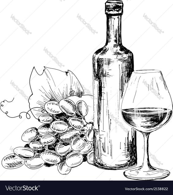 564x637 Hand Drawn Pattern Wine Making Graphics Hand Drawn Pattern