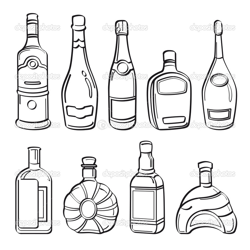 1024x1024 Liquor Coloring Pages