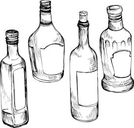 275x263 Set Of Hand Drawn Glass Bottles Image