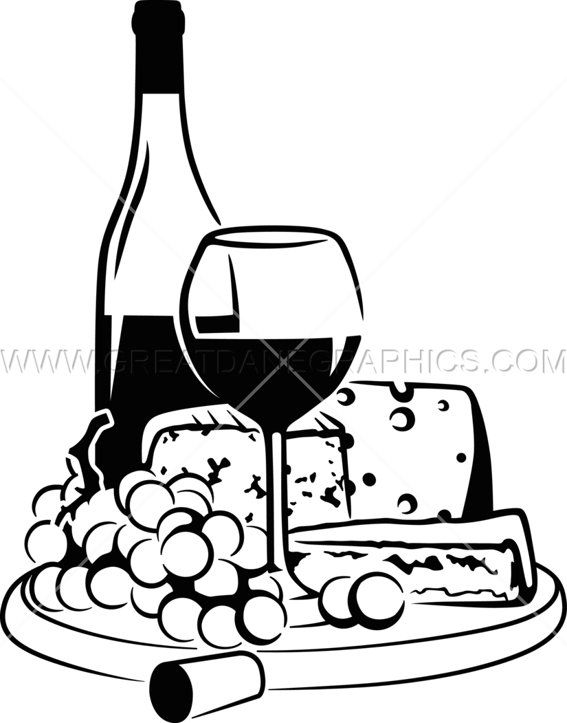 825x1051 Wine Cheese Production Ready Artwork For T Shirt Printing