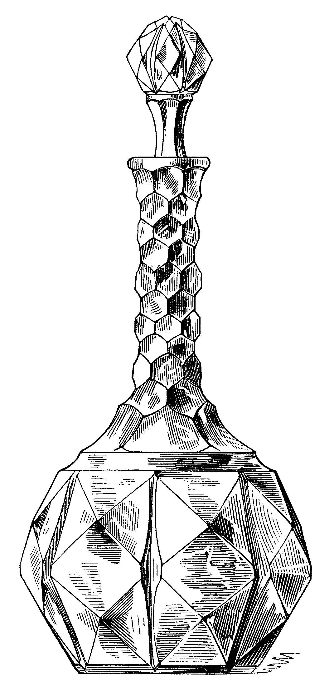 1071x2214 Vintage Wine Decanter Clip Art, Antique Wine Bottle, Black