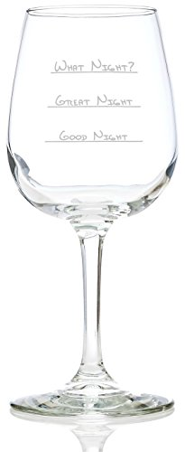 205x500 What Night Funny Wine Glass 13 Oz
