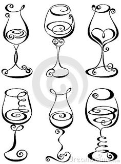 236x320 How To Draw Wine Glasses Step 3 Art Tutorials Wine