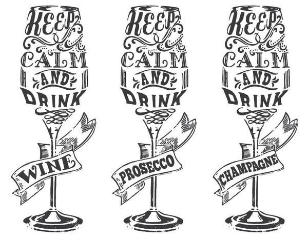 600x466 Keep Calm Wine Glass