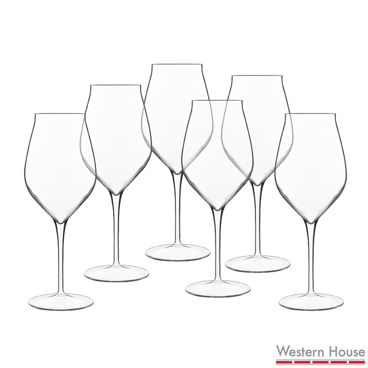 1200x1200 Luigi Bormioli Vinea Crystal Glass 450ml White Wine Glasses, 6
