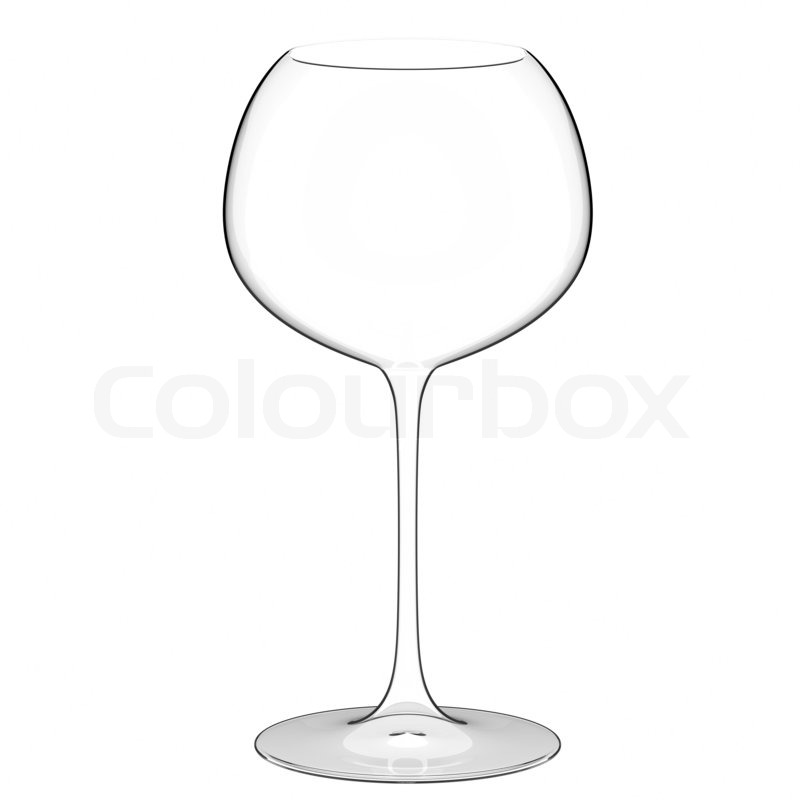 800x800 Single Empty Wine Glass On White Background Stock Photo Colourbox