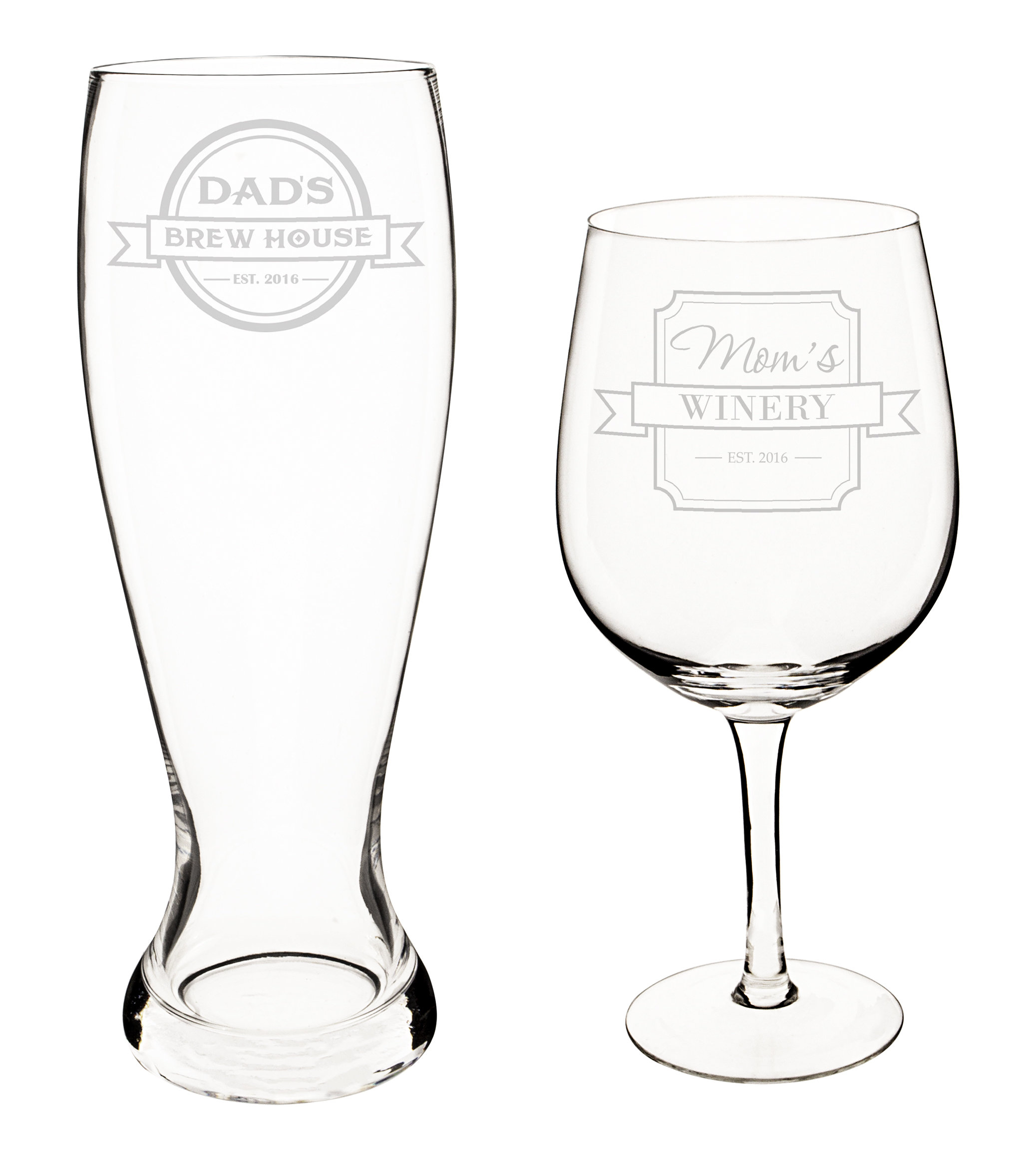 2075x2342 Cathys Concepts Personalized Mom And Dad Xl Beer And Wine Glass