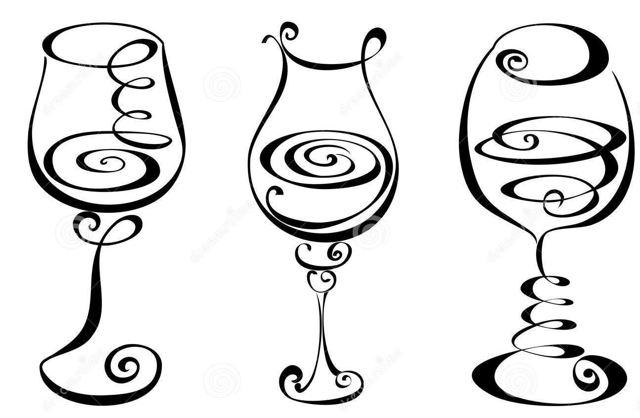 redline coloring pages | Wine Glass Line Drawing at GetDrawings.com | Free for ...
