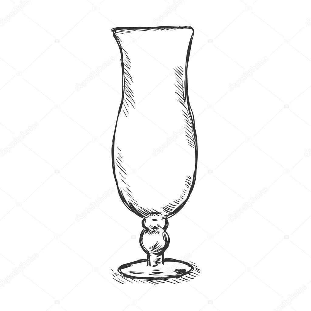 1024x1024 Single Sketch Hurricane Glass Stock Vector Nikiteev