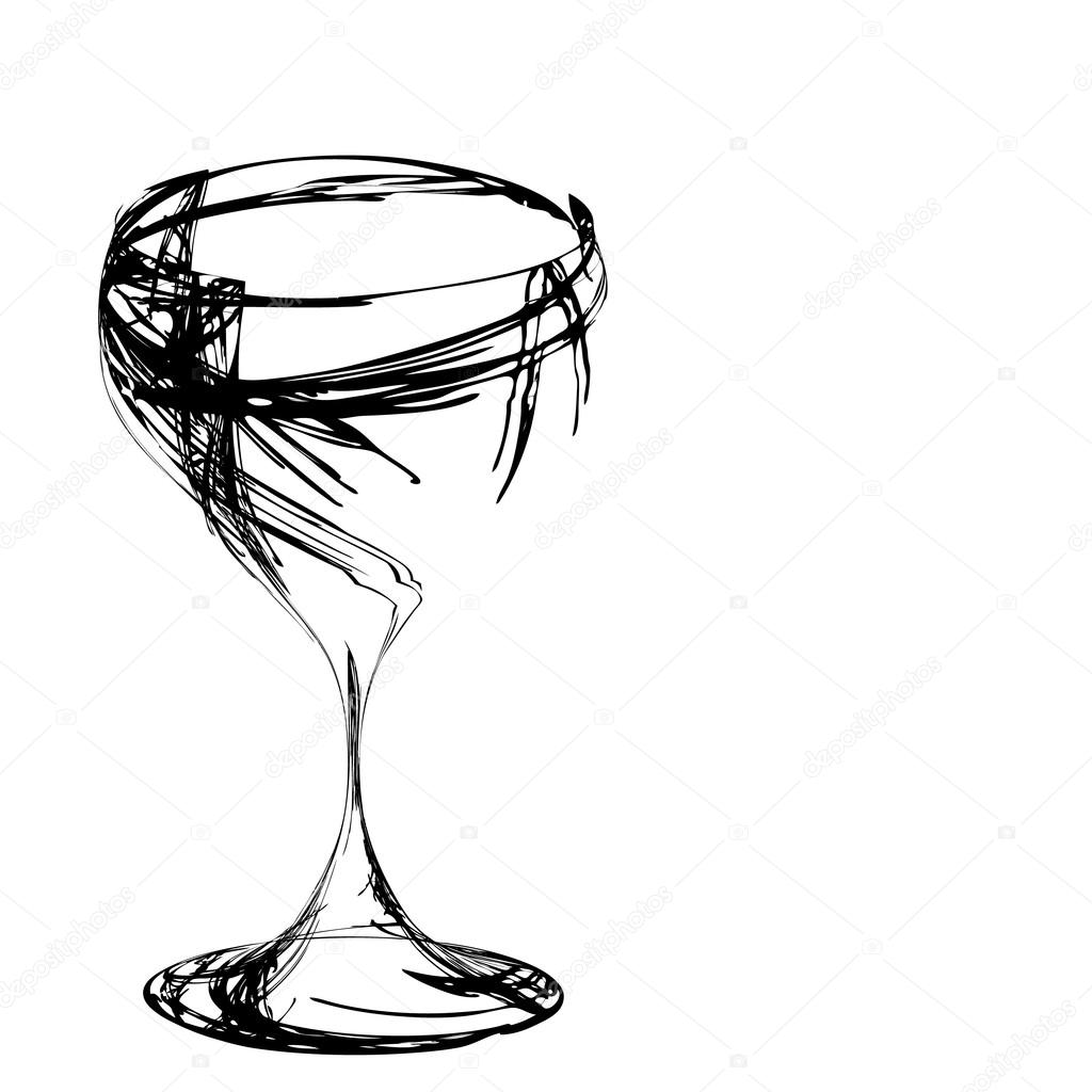 1024x1024 The Stylized Wine Glass For Fault Stock Vector Points