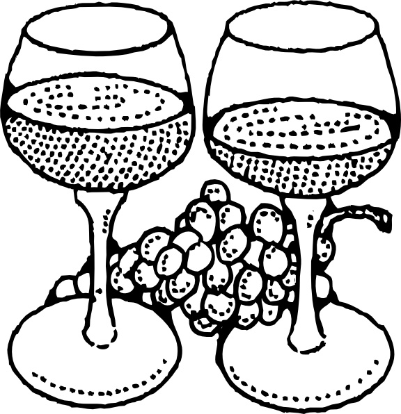 576x596 Two Glasses Of Wine Clip Art Free Vector In Open Office Drawing