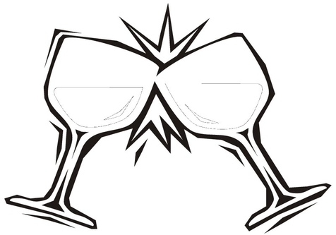 476x333 Wine Glass Coloring Pages Page Image Clipart Images