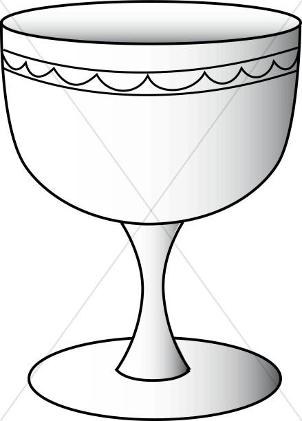 439x612 Wine Glass Line Art Communion Clipart
