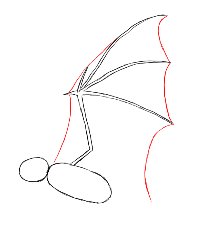 664x802 How To Draw A Bat