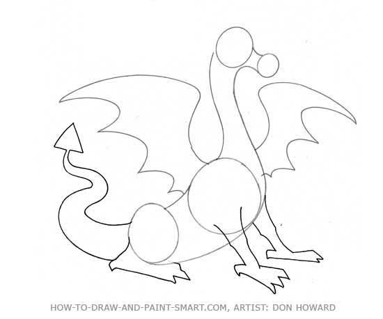 550x458 How To Draw A Dragon