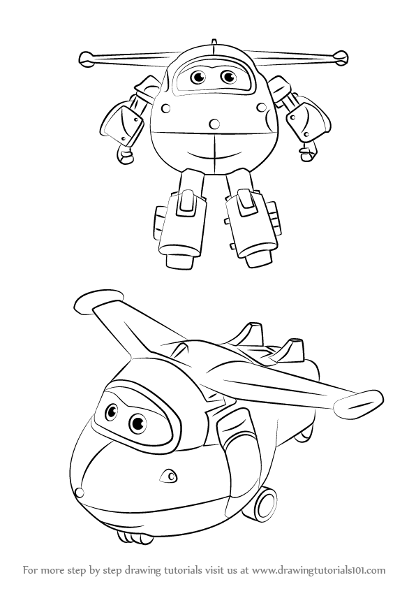 596x843 Learn How To Draw Jett From Super Wings (Super Wings) Step By Step