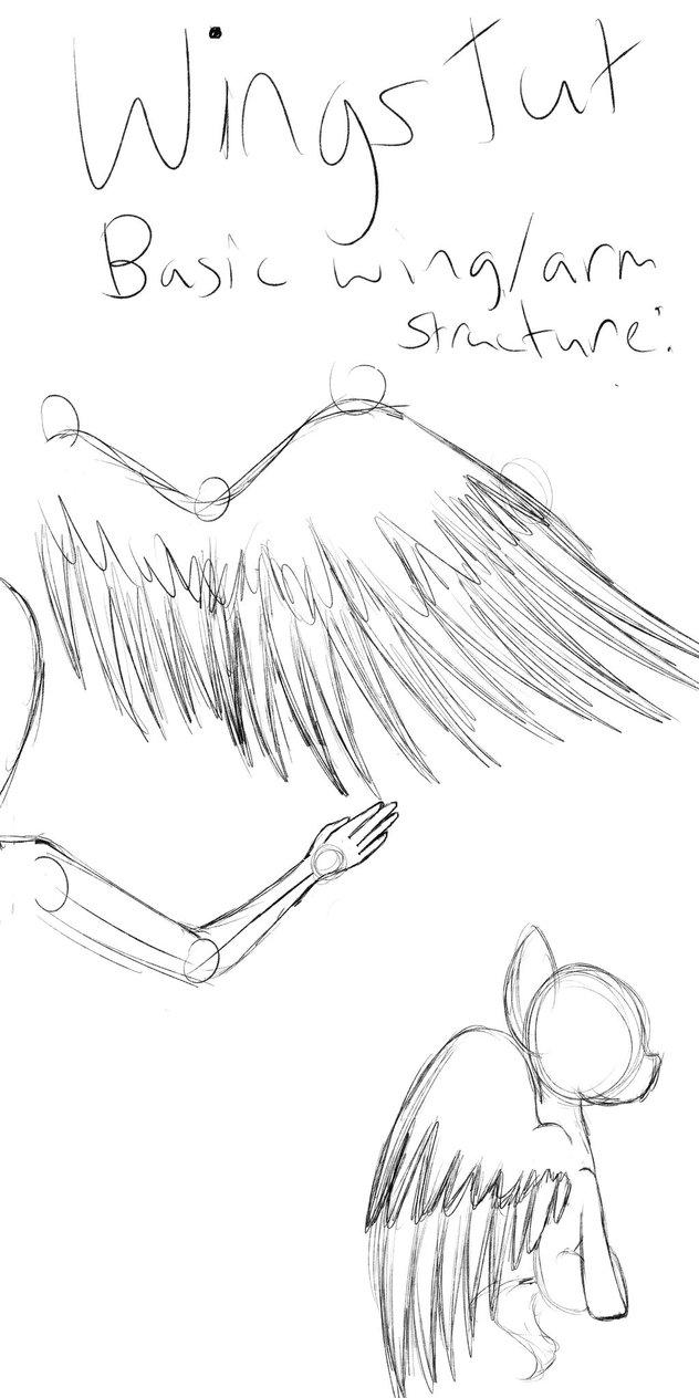 632x1264 Wing Tutorial By Pixelheartart