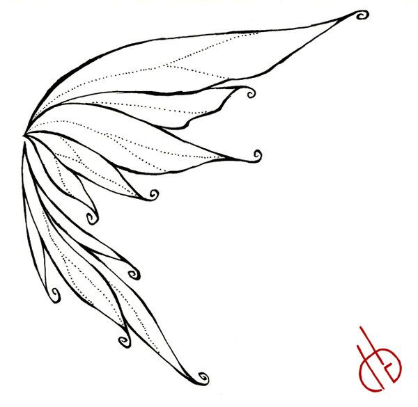 600x585 Fairy Wings Drawings Fairy Wing By ~ Bakero Ichiban Fairy