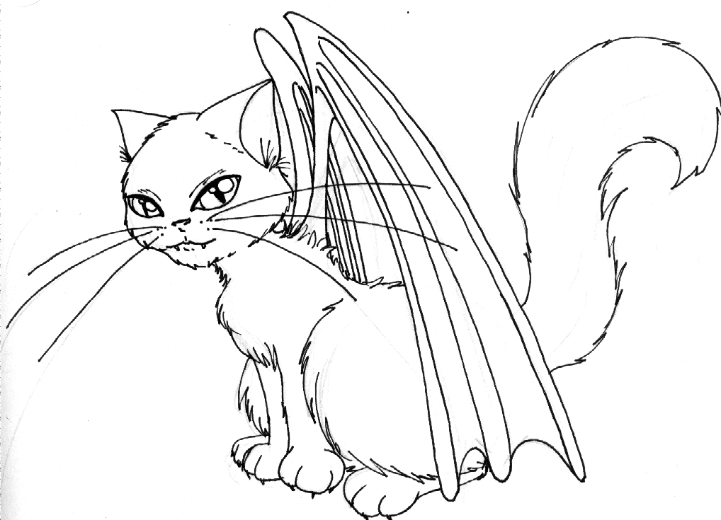 1018x735 Winged Cat Thing By Lezzy Cat