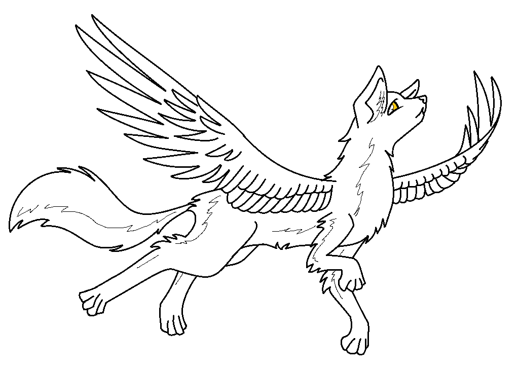 1024x724 Winged Wolf Base By Computerdragon