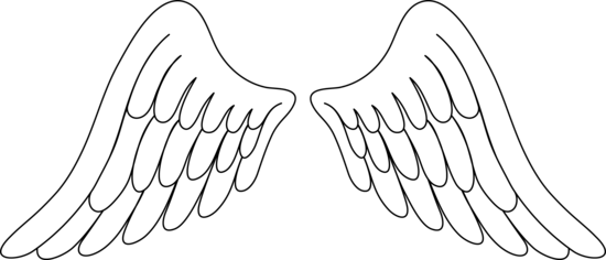 Angel Wings Line Drawing