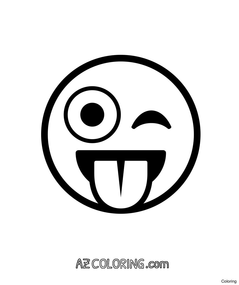 1000x1196 Emoji Kiss 1 Coloring Pages Printable Page 6f 20 Movie Free Diaiz