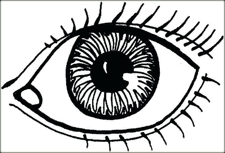 718x491 Eyeball Coloring Pages Eyeball Coloring Page Fascinating Eye