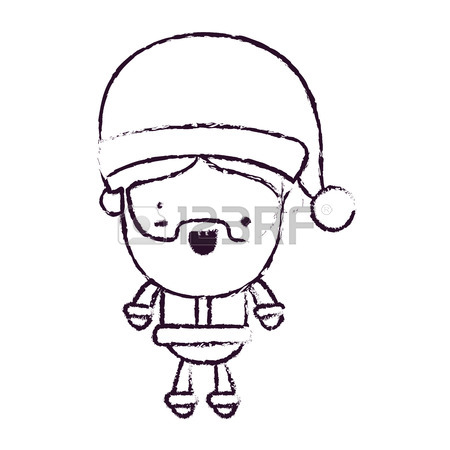 450x450 Santa Claus Cartoon Full Body With Eye Winking Royalty Free