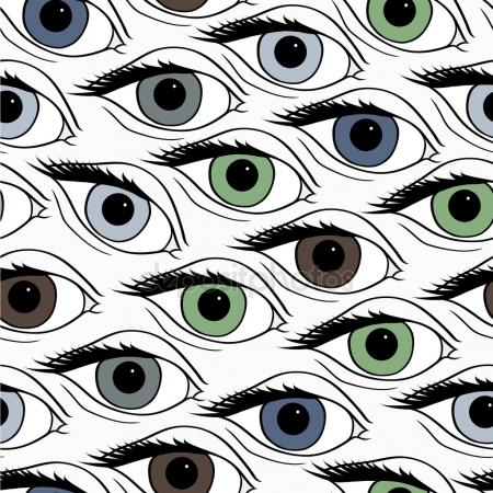 450x450 Seamless Open Eye Pattern Stock Vector Crystal Ray
