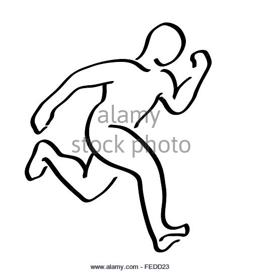 520x540 Drawing Man Sport Runner Icon Stock Photos Amp Drawing Man Sport