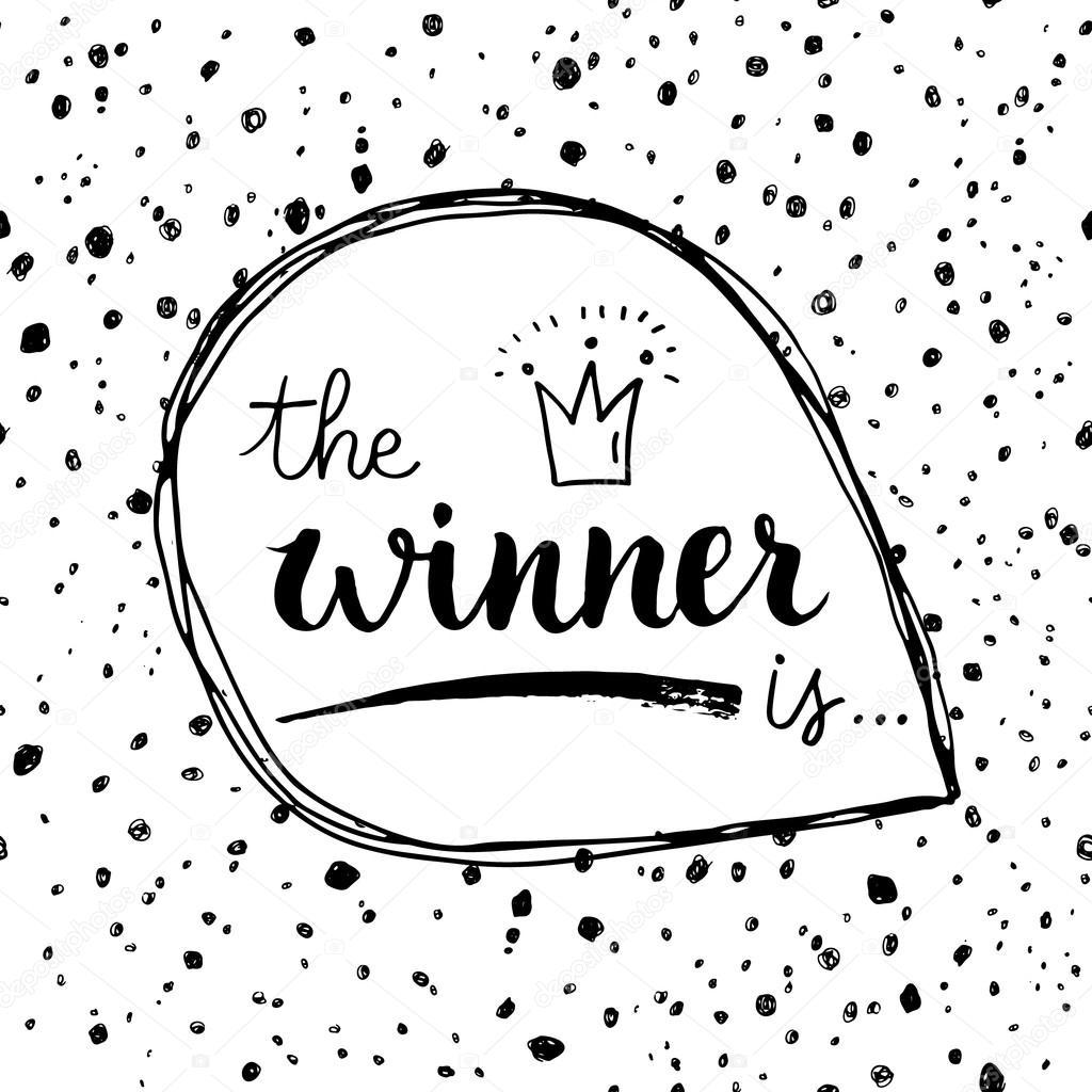 1024x1024 The Winner Is Calligraphic Quote Stock Vector Teploleta