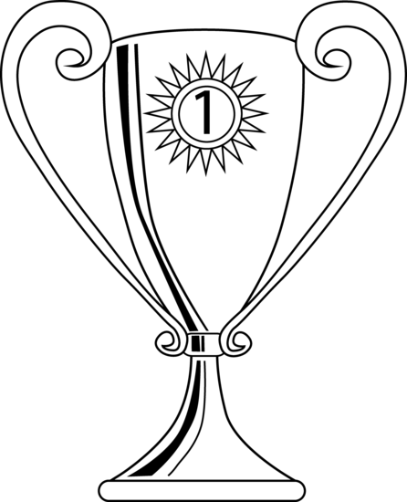 446x550 Winning Trophy Coloring Page