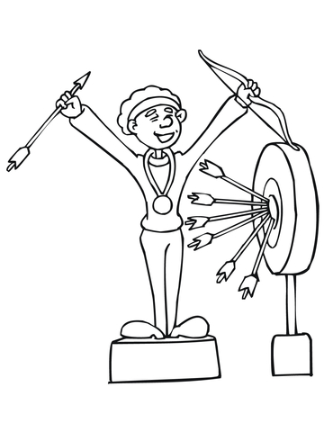 360x480 Archery Competition Winner Coloring Page Free Printable Coloring