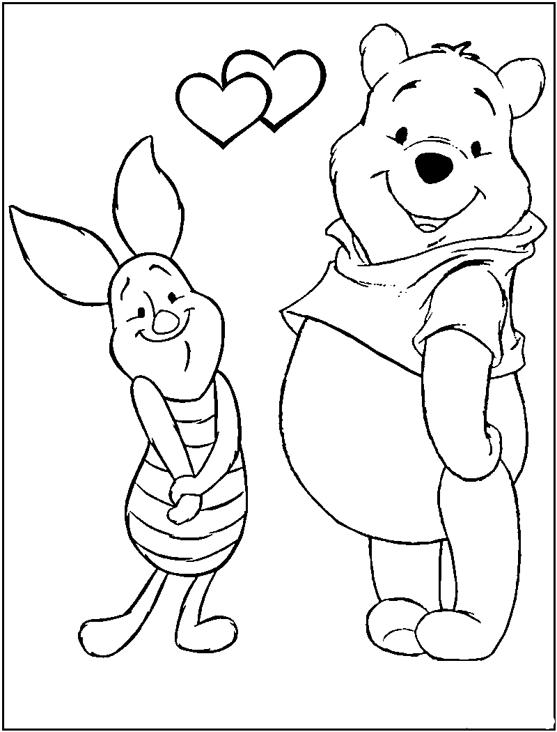800x1050 Vn Studio Winnie The Pooh Characters Black And White Vn Studio