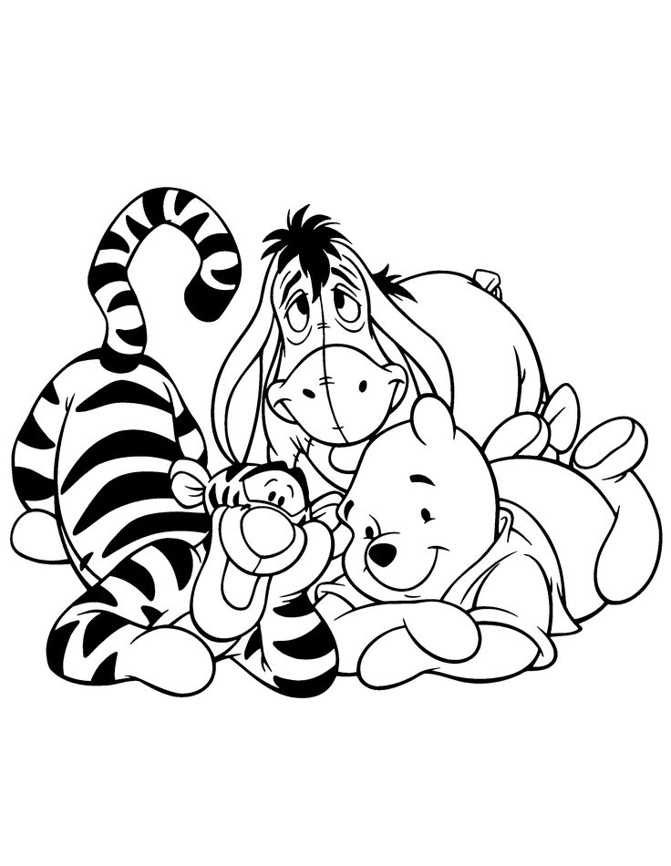 736x950 Pooh Cast Coloring Sheets Disney Coloring Pages