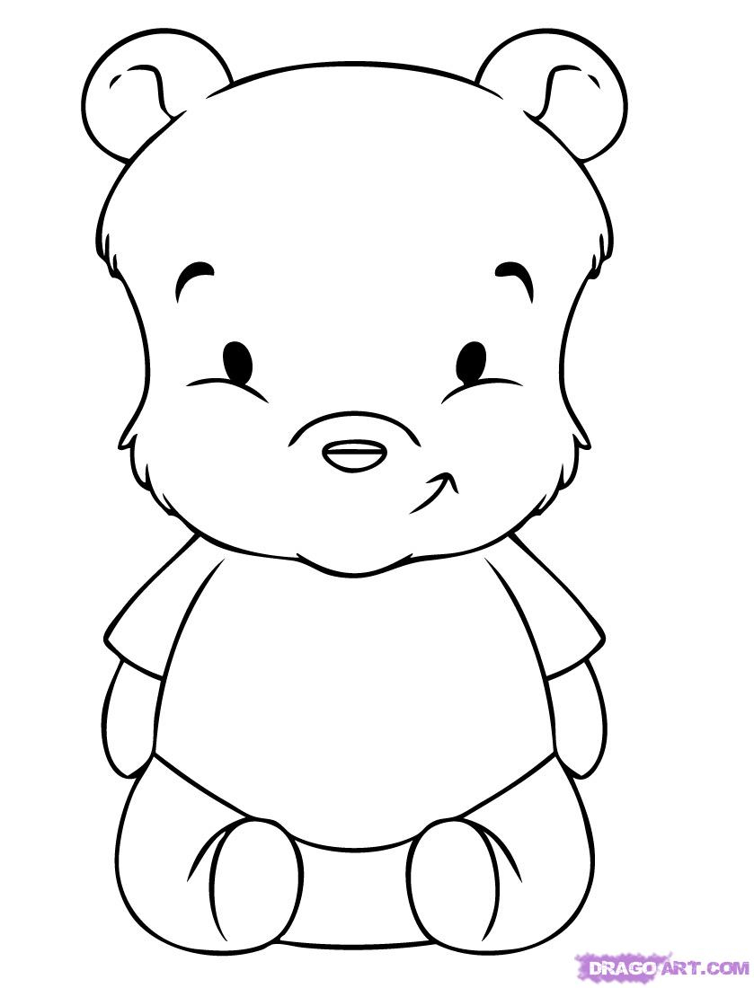 839x1100 Baby Winnie The Pooh Drawing How To Draw Baby Pooh, Step By Step