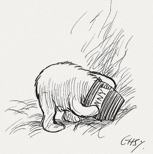 497x500 Bibliodyssey Original Winnie The Pooh Drawings