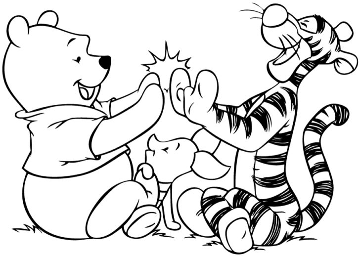 728x518 Drawings Winnie The Pooh Coloring Pages Kids