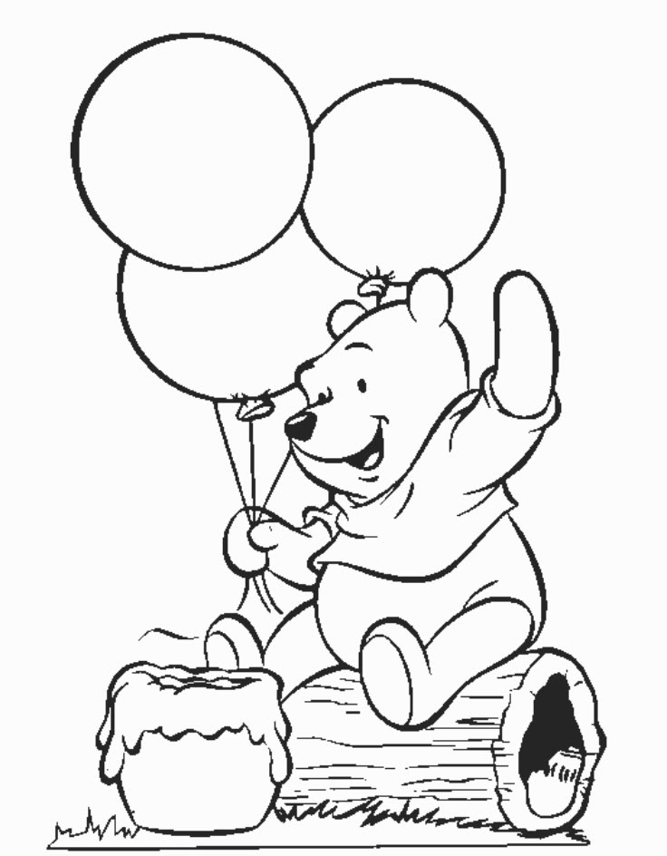736x944 Printable Coloring Pages Winnie The Pooh Printables And Charts