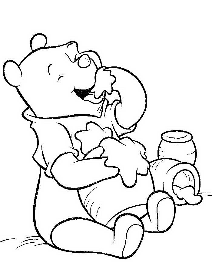 700x900 Winnie The Pooh With Honey Coloring Pages