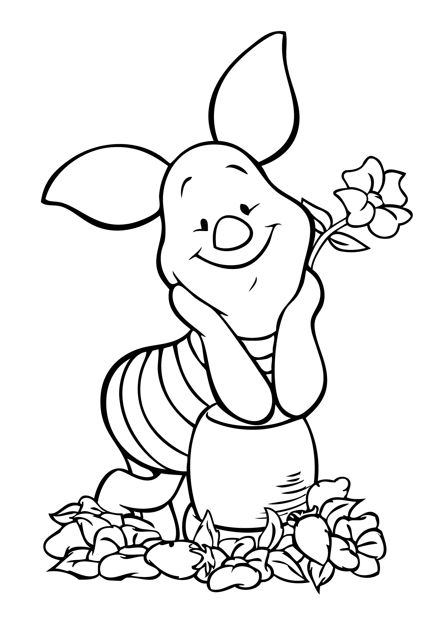 1483x2079 Pooh And Piglet Drawing Winnie Pooh Piglet Coloring Page