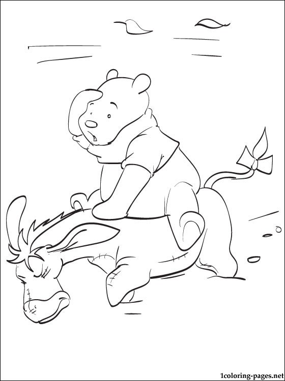 560x750 Winnie Pooh With Friends Line Drawing Coloring Pages